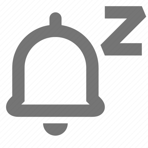 bell, material, notifications, paused, ring, sleep icon