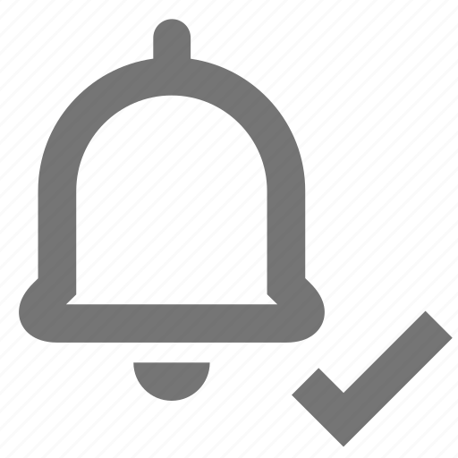 bell, check, material, ring, ringtone, select, settings icon