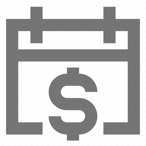 banking, calendar, e-banking, finance, material, money, payment icon