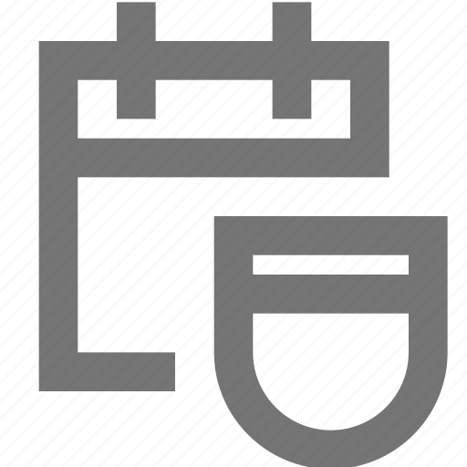 business, calendar, data, material, protection, security icon