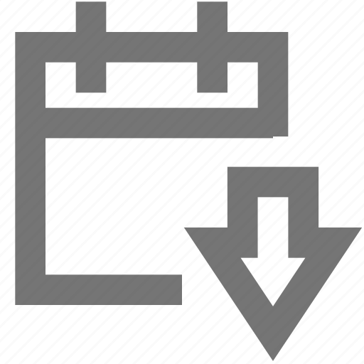 arrow, calendar, down, download, material icon