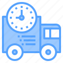 deadline, delivery, development, happy, lesson, time, together icon