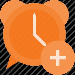 add, alarm, clock, set, time icon