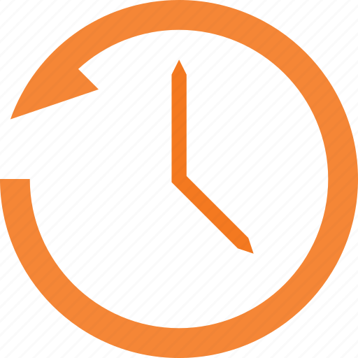 anti, clockwise, set, time, turn icon
