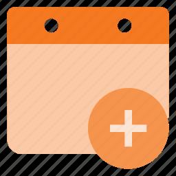 add, calendar, create, event, time icon