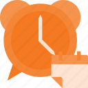 calendar, clock, event, llarm, reminder, time icon