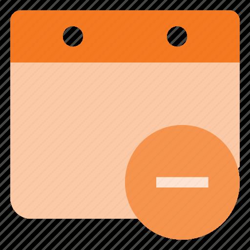 calendar, cancel, delete, event, remove, time icon