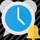 alarm, clock, sound, time icon