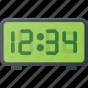 alarm, clock, digital, radio, time icon