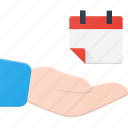 calendar, care, event, hold, share, time icon