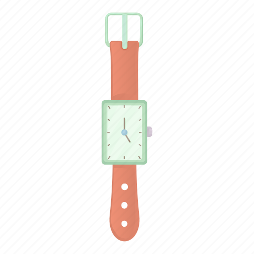 Cartoon, clock, minute, second, time, watch, wrist icon - Download on Iconfinder