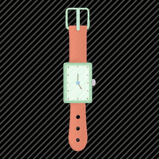 cartoon, clock, minute, second, time, watch, wrist icon