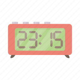 alarm, cartoon, minute, number, retro, time, watch icon