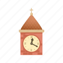 cartoon, circle, clock, hour, minute, round, time icon