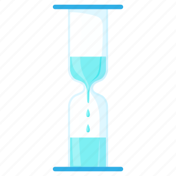 cartoon, clock, hourglass, idea, time, timer, water icon