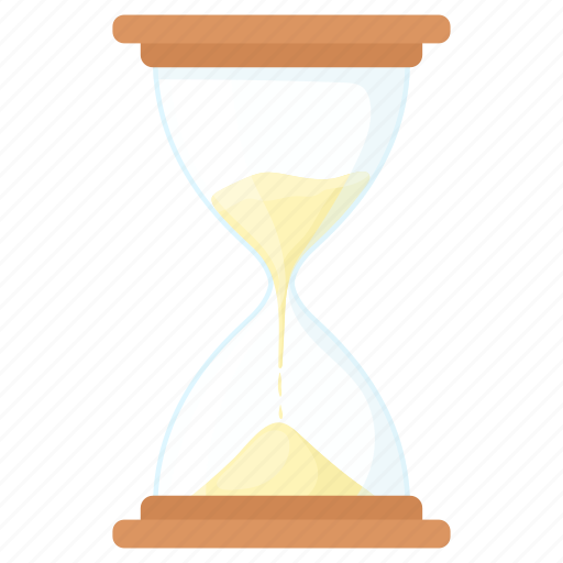 cartoon, clock, countdown, glass, hourglass, sand, time icon