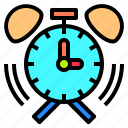 alarm, clock, deadline, development, happy, lesson, together icon