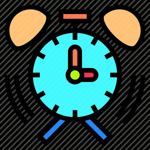 alarm, clock, deadline, development, happy, lesson, together icon