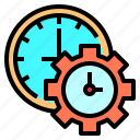 clock, deadline, development, happy, lesson, organization, together icon