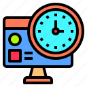 computer, deadline, development, happy, lesson, organization, together icon