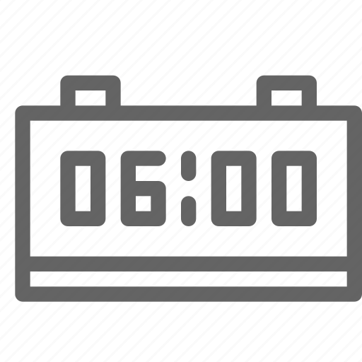 alarm, clock, digital icon