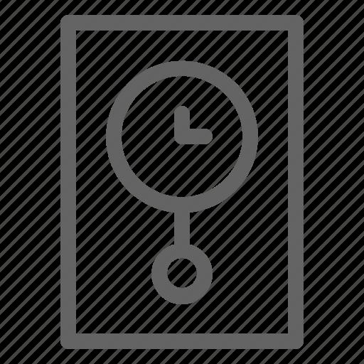 clock, longcase, pendulum icon