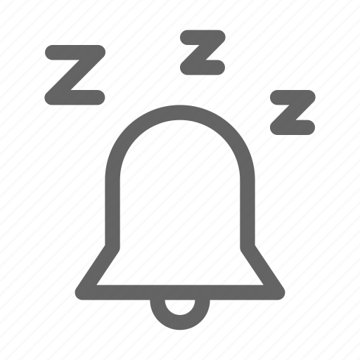 alarm, bell, snooze icon