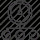 check, clock, marks, survey icon