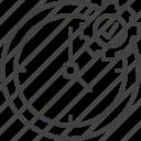 clock, cogwheel, management, time