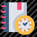 agenda, time, plan, clock, schedule, watch