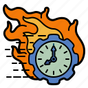 time, hurry, burn, fire, rush, menagement, clock