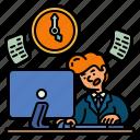 clock, routine, working, office, busy, worker, work