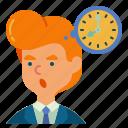 man, menagement, bubble, time, thinking, businessman