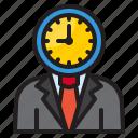 businessman, time, management, clock, business