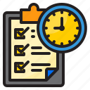 clipboard, time, management, clock, check, list