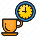 coffee, time, management, clock, watch