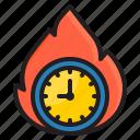 fire, time, management, clock, watch