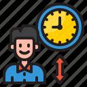 man, time, management, clock, watch