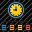 time, management, clock, diagram, flow, chart