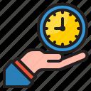 time, management, clock, hand, watch