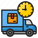 truck, delivery, time, management, clock