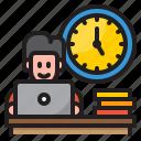 worker, man, time, management, clock