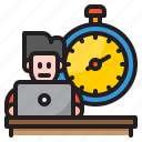 worker, stopwatch, time, management, clock