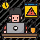 worker, warning, time, management, clock