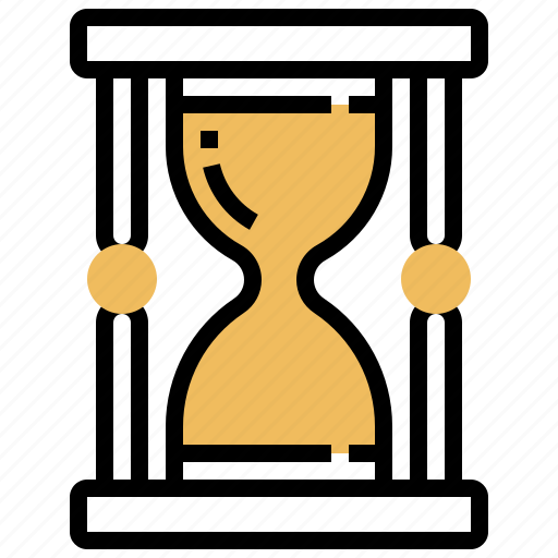 clock, hour, hourglass, sand, time icon