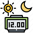 clock, day, hour, night, time icon