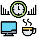 determination, graph, relax, time icon