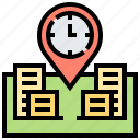 gps, location, navigation, place, time icon