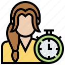 clock, countdown, management, overtime, time icon