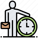 clock, management, time, working icon